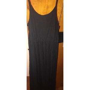 H&M long black maxi dress